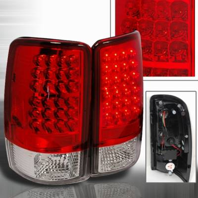 Headlights & Tail Lights - Led Tail Lights - Custom Disco - Chevrolet Tahoe Custom Disco Red LED Taillights - LT-DEN00RLED-YD