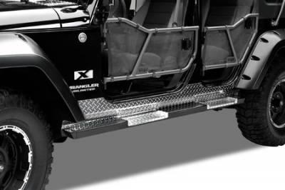 SUV Truck Accessories - Running Boards - Warrior - Jeep CJ5 Warrior Rock Barz Nerf Bar