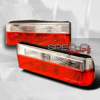 Headlights & Tail Lights - Tail Lights - Custom Disco - BMW 3 Series Custom Disco Red & Clear Taillights - LT-E304RPW-TM