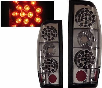 Headlights & Tail Lights - Led Tail Lights - 4 Car Option - Nissan Frontier 4 Car Option LED Taillights - Smoke - LT-NF98LEDSM-KS