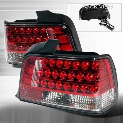 Headlights & Tail Lights - Led Tail Lights - Custom Disco - BMW 3 Series Custom Disco Red LED Taillights - LT-E36924RLED
