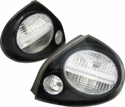 Headlights & Tail Lights - Tail Lights - 4 Car Option - Nissan Maxima 4 Car Option Taillights - Black & Clear - LT-NM00B1-2