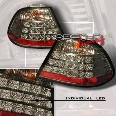 Headlights & Tail Lights - Led Tail Lights - Custom Disco - BMW 3 Series Custom Disco Smoke LED Taillights - LT-E46992GLED