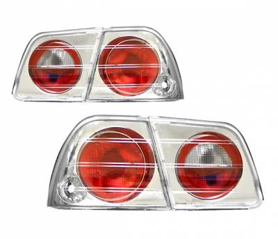 Headlights & Tail Lights - Tail Lights - 4 Car Option - Nissan Maxima 4 Car Option Altezza Taillights - Chrome - LT-NM95A-YD