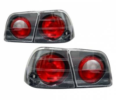 Headlights & Tail Lights - Tail Lights - 4 Car Option - Nissan Maxima 4 Car Option Altezza Taillights - Carbon Fiber Style - LT-NM95F-YD