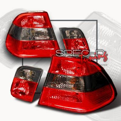 Headlights & Tail Lights - Tail Lights - Custom Disco - BMW 3 Series Custom Disco Smoke Taillights - LT-E46994G-TM