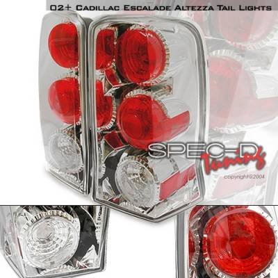 Headlights & Tail Lights - Tail Lights - Custom Disco - Cadillac Escalade Custom Disco Chrome Taillights - LT-ECLD02-YD