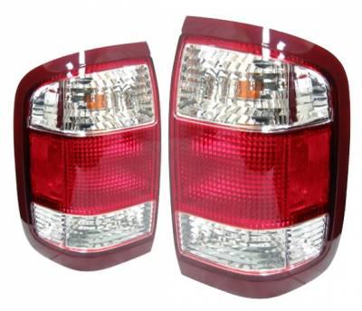 Headlights & Tail Lights - Tail Lights - 4 Car Option - Nissan Pathfinder 4 Car Option OEM Taillights - Red & Clear - LT-NP99OE-KS