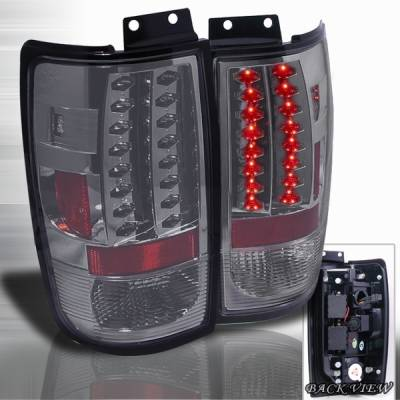Headlights & Tail Lights - Led Tail Lights - Custom Disco - Ford Expedition Custom Disco Smoke LED Taillights - LT-EPED97GLED-YD
