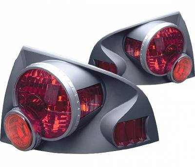 Headlights & Tail Lights - Tail Lights - 4 Car Option - Nissan Sentra 4 Car Option 3D Style Taillights - Titanium - LT-NS00DT-9