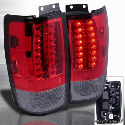 Headlights & Tail Lights - Led Tail Lights - Custom Disco - Ford Expedition Custom Disco Smoke LED Taillights - LT-EPED97RGLED-YD
