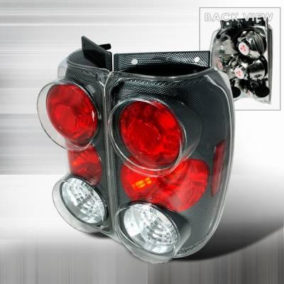 Headlights & Tail Lights - Tail Lights - Custom Disco - Ford Explorer Custom Disco Carbon Fiber Taillights - LT-EPOR95CF-YD