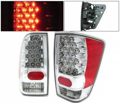 Headlights & Tail Lights - Led Tail Lights - 4 Car Option - Nissan Titan 4 Car Option LED Taillights - Chrome - LT-NTIT04LEDC-KS