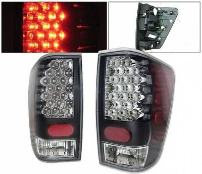 Headlights & Tail Lights - Led Tail Lights - 4 Car Option - Nissan Titan 4 Car Option LED Taillights - Black - LT-NTIT04LEDJB-KS