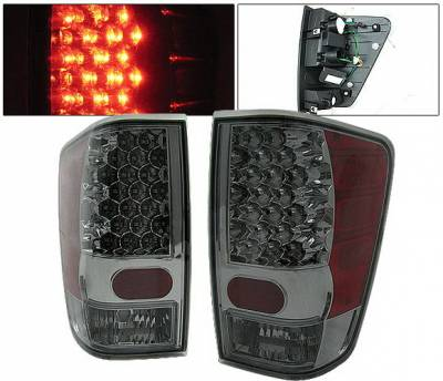 Headlights & Tail Lights - Led Tail Lights - 4 Car Option - Nissan Titan 4 Car Option LED Taillights - Smoke - LT-NTIT04LEDSM-KS