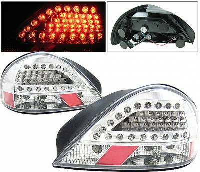 Headlights & Tail Lights - Led Tail Lights - 4 Car Option - Pontiac Grand Am 4 Car Option LED Taillights - Chrome - LT-PGAMLEDC-KS