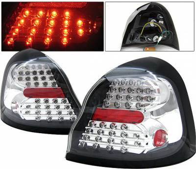 Headlights & Tail Lights - Led Tail Lights - 4 Car Option - Pontiac Grand Prix 4 Car Option LED Taillights - Clear - LT-PGP04LEDC-KS