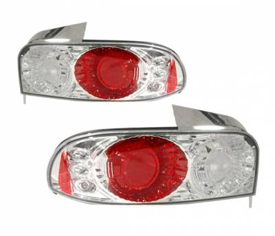 Headlights & Tail Lights - Tail Lights - 4 Car Option - Subaru Impreza 4 Car Option Altezza Taillights - Chrome - LT-SI93A-YD
