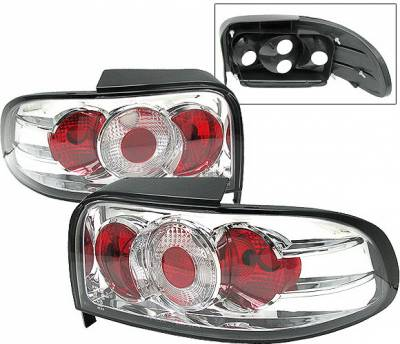 Headlights & Tail Lights - Tail Lights - 4 Car Option - Subaru Impreza 4 Car Option Taillights - Chrome - LT-SI93C-1