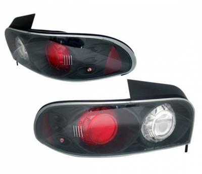 Headlights & Tail Lights - Tail Lights - 4 Car Option - Subaru Impreza 4 Car Option Altezza Taillights - Black - LT-SI93JB-3
