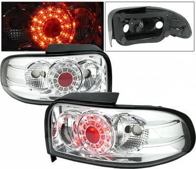 Headlights & Tail Lights - Led Tail Lights - 4 Car Option - Subaru Impreza 4 Car Option LED Chrome Taillights - - LT-SI93LEDC-1