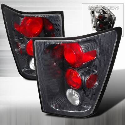 Headlights & Tail Lights - Tail Lights - Custom Disco - Jeep Grand Cherokee Custom Disco Carbon Taillights - LT-GKEE04CF-TM