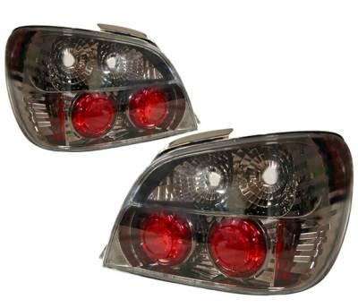 Headlights & Tail Lights - Tail Lights - 4 Car Option - Subaru WRX 4 Car Option Altezza Taillights - Gunmetal - LT-SW02G-YD