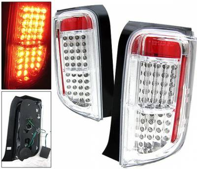 Headlights & Tail Lights - Led Tail Lights - 4 Car Option - Scion xB 4 Car Option LED Taillights - Clear - LT-SXB03LEDC-KS