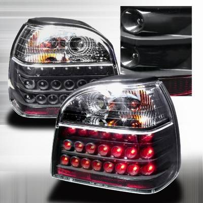 Headlights & Tail Lights - Led Tail Lights - Custom Disco - Volkswagen Golf Custom Disco Black LED Taillights - LT-GLF93JMLED