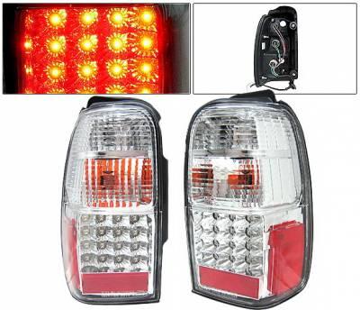Headlights & Tail Lights - Led Tail Lights - 4 Car Option - Toyota 4Runner 4 Car Option LED Taillights - Clear - LT-T4R01LEDC-KS