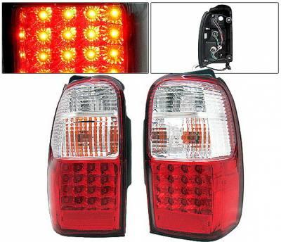 Headlights & Tail Lights - Led Tail Lights - 4 Car Option - Toyota 4Runner 4 Car Option LED Taillights - Red & Clear - LT-T4R01LEDRC-KS