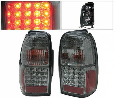 Headlights & Tail Lights - Led Tail Lights - 4 Car Option - Toyota 4Runner 4 Car Option LED Taillights - Smoke - LT-T4R01LEDSM-KS