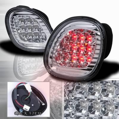 Headlights & Tail Lights - Led Tail Lights - Custom Disco - Lexus GS Custom Disco Chrome LED Trunk Taillights - LT-GS30098CLEDX