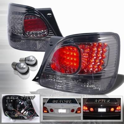 Headlights & Tail Lights - Led Tail Lights - Custom Disco - Lexus GS Custom Disco Smoke LED Taillights - LT-GS30098GLED