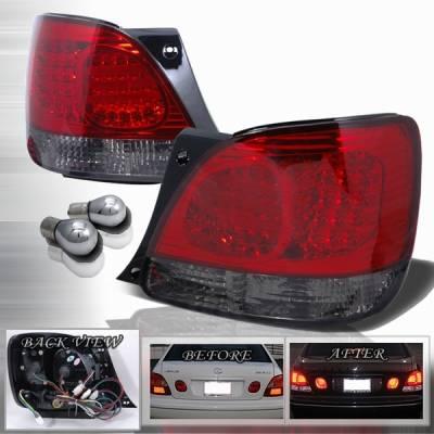 Headlights & Tail Lights - Led Tail Lights - Custom Disco - Lexus GS Custom Disco Black LED Taillights - LT-GS30098RGLED