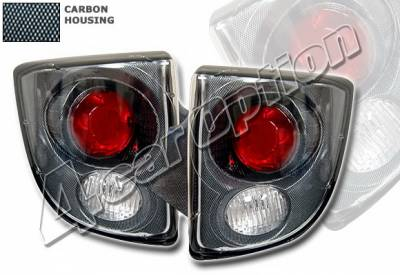 Headlights & Tail Lights - Tail Lights - 4 Car Option - Toyota Celica 4 Car Option Altezza Taillights - Carbon Fiber Style - LT-TC00F2-YD