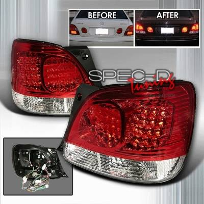 Headlights & Tail Lights - Led Tail Lights - Custom Disco - Lexus GS Custom Disco Red LED Taillights - LT-GS30098RLED