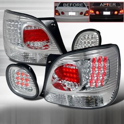 Headlights & Tail Lights - Led Tail Lights - Custom Disco - Lexus GS Custom Disco Chrome LED Taillight & Trunk Lights - LT-GS300RTCLED