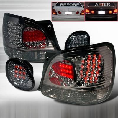 Headlights & Tail Lights - Led Tail Lights - Custom Disco - Lexus GS Custom Disco Smoke LED Taillight & Trunk Lights - LT-GS300RTGLED