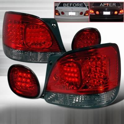 Headlights & Tail Lights - Led Tail Lights - Custom Disco - Lexus GS Custom Disco Black LED Taillight & Trunk Lights - LT-GS300RTRGLED