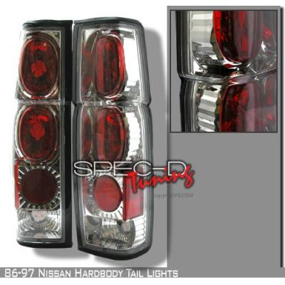 Headlights & Tail Lights - Tail Lights - Custom Disco - Nissan Pickup Custom Disco Chrome Taillights - LT-HAR86-YD
