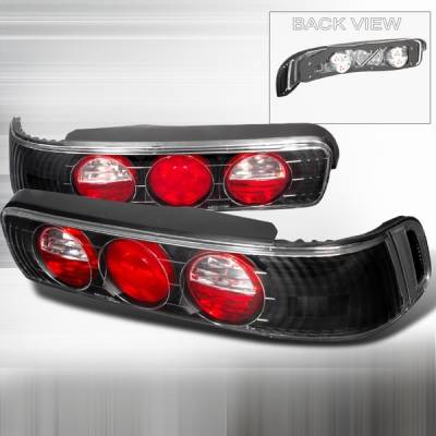 Headlights & Tail Lights - Tail Lights - Custom Disco - Acura Integra 2DR Custom Disco Black Taillights - LT-INT902JM-YD