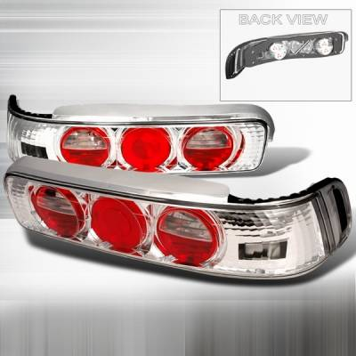Headlights & Tail Lights - Tail Lights - Custom Disco - Acura Integra 2DR Custom Disco Chrome Taillights - LT-INT902-YD