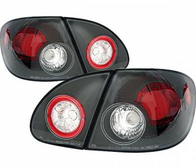Headlights & Tail Lights - Tail Lights - 4 Car Option - Toyota Corolla 4 Car Option Altezza Taillights - Black - LT-TCL03JB-YD