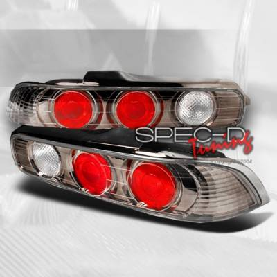 Headlights & Tail Lights - Tail Lights - Custom Disco - Acura Integra 2DR Custom Disco Gunmetal Taillights - LT-INT942G-YD