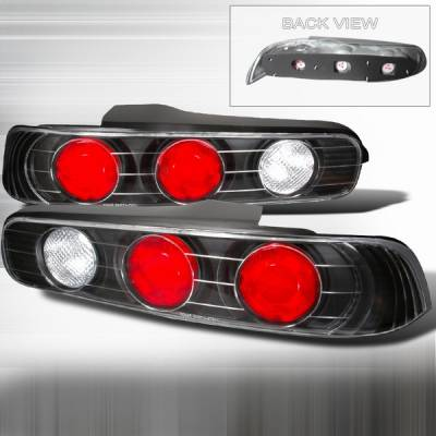 Headlights & Tail Lights - Tail Lights - Custom Disco - Acura Integra 2DR Custom Disco JDM Black Taillights - LT-INT942JM-YD