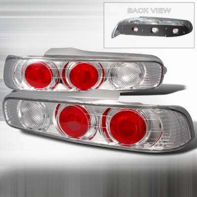 Headlights & Tail Lights - Tail Lights - Custom Disco - Acura Integra 2DR Custom Disco Chrome Taillights - LT-INT942-YD
