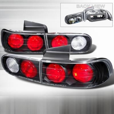 Headlights & Tail Lights - Tail Lights - Custom Disco - Acura Integra 4DR Custom Disco Black Taillights - LT-INT944JM-YD