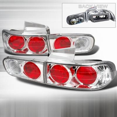 Headlights & Tail Lights - Tail Lights - Custom Disco - Acura Integra 4DR Custom Disco Chrome Taillights - LT-INT944-YD