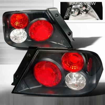 Headlights & Tail Lights - Tail Lights - Custom Disco - Mitsubishi Lancer Custom Disco JDM Black Taillights - LT-LAN01JM-YD